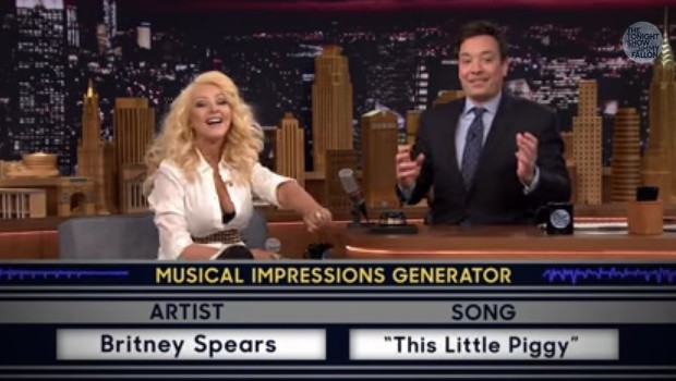 Christina Aguilera chez Jimmy Fallon